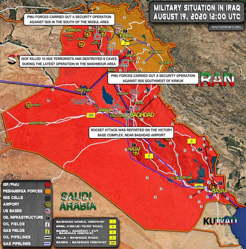 Military Situation In Iraq On August 19, 2020 (Map Update)