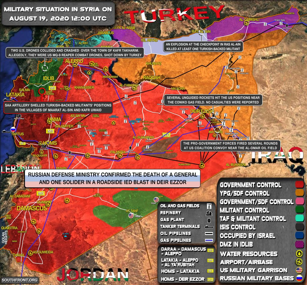 Military Situation In Syria On August 19, 2020 (Map Update)