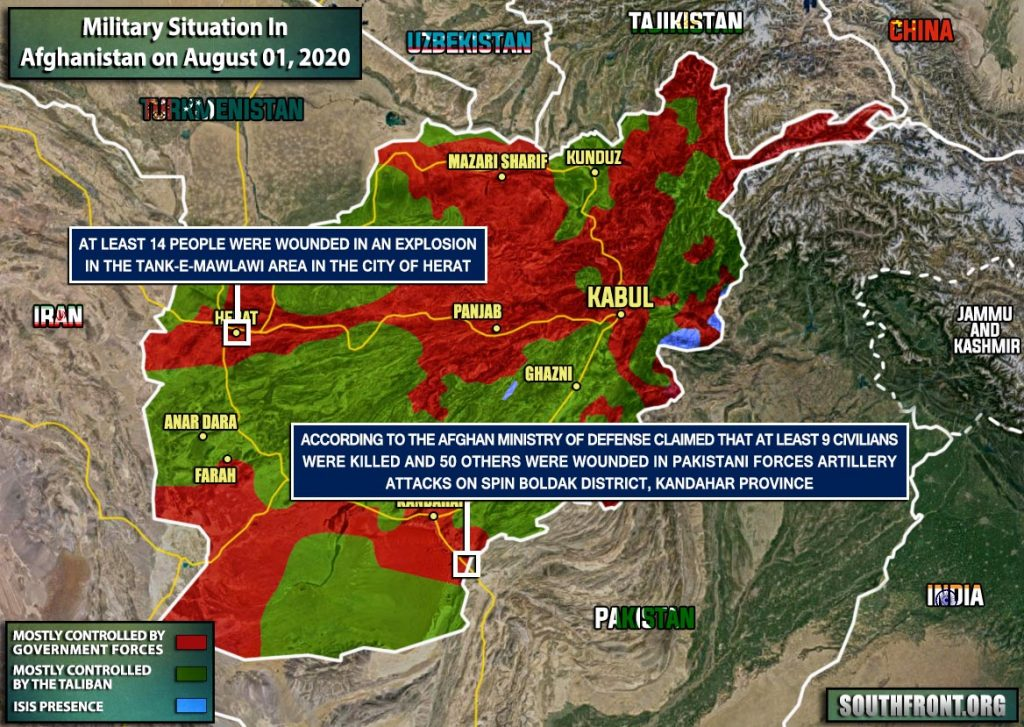 Military Situation In Afghanistan On August 1, 2020 (Map Update)