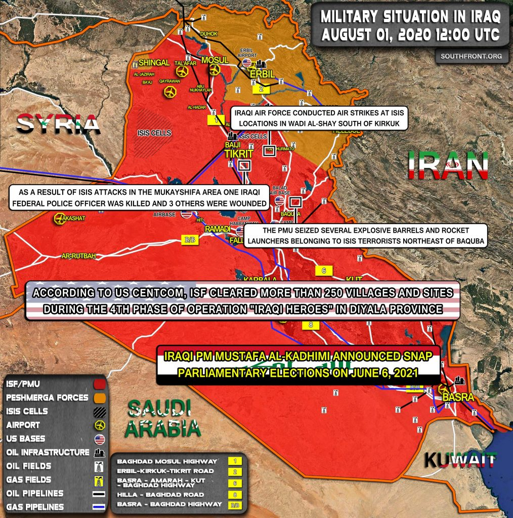 Military Situation In Iraq On August 1, 2020 (Map Update)