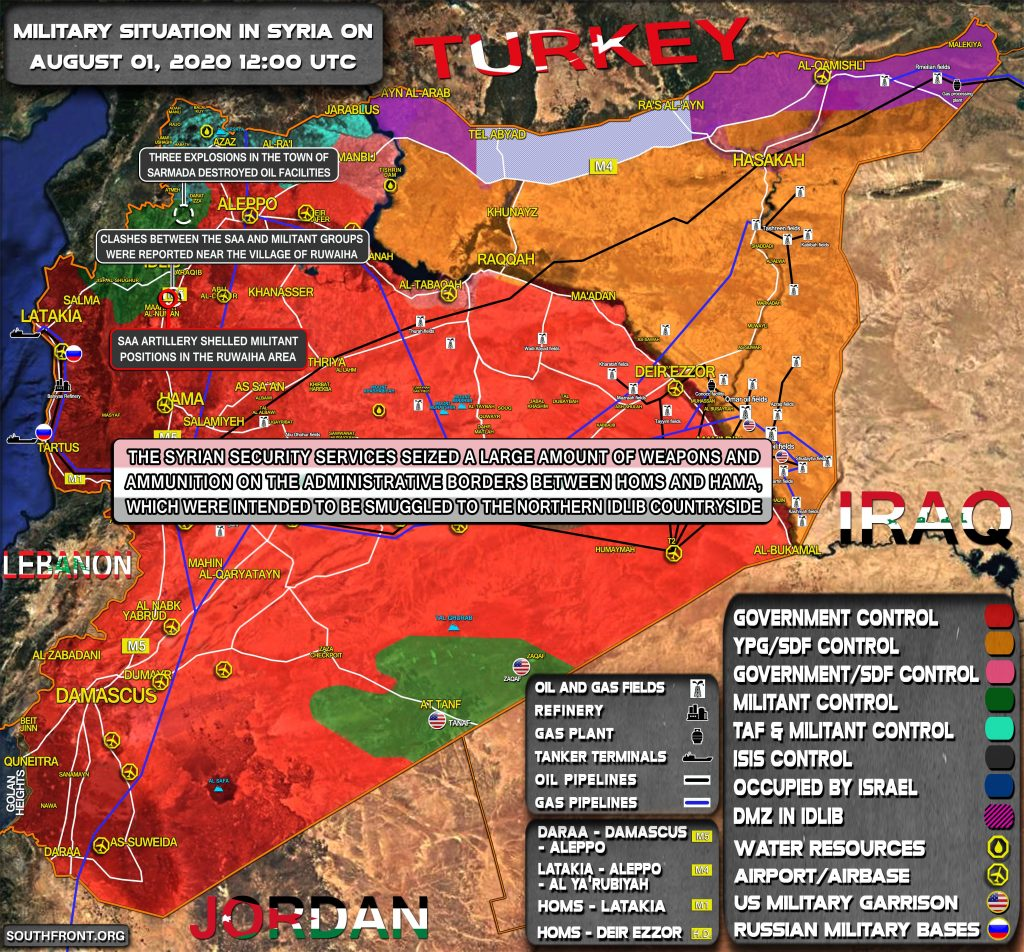 Military Situation In Syria On August 1, 2020 (Map Update)