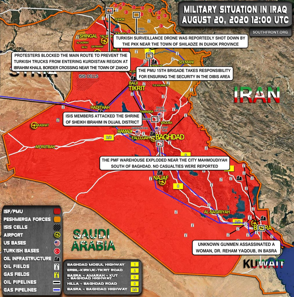 Military Situation In Iraq On August 20, 2020 (Map Update)