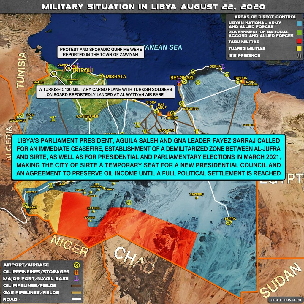 Military Situation In Libya On August 22, 2020 (Map Update)