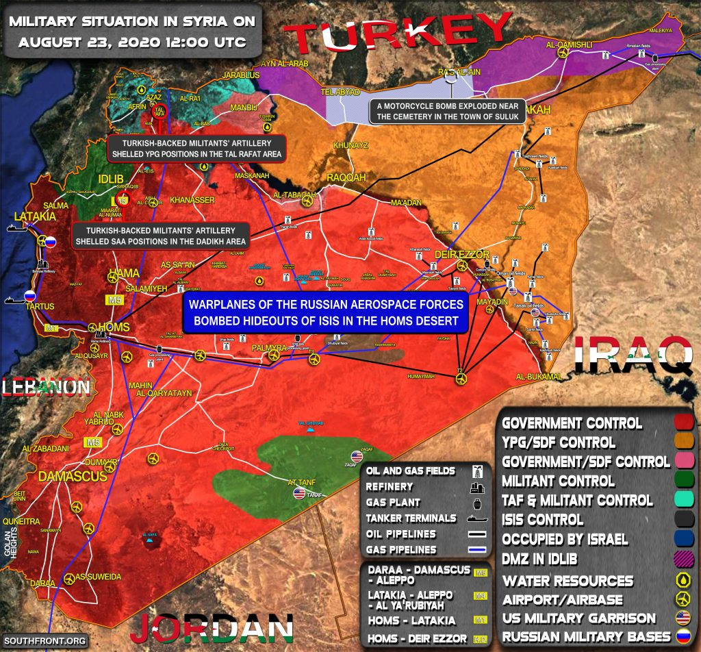 Military Situation In Syria On August 23, 2020 (Map Update)