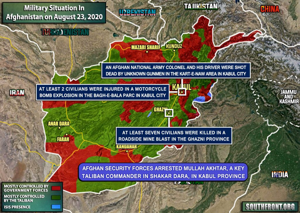 Military Situation In Afghanistan On August 23, 2020 (Map Update)