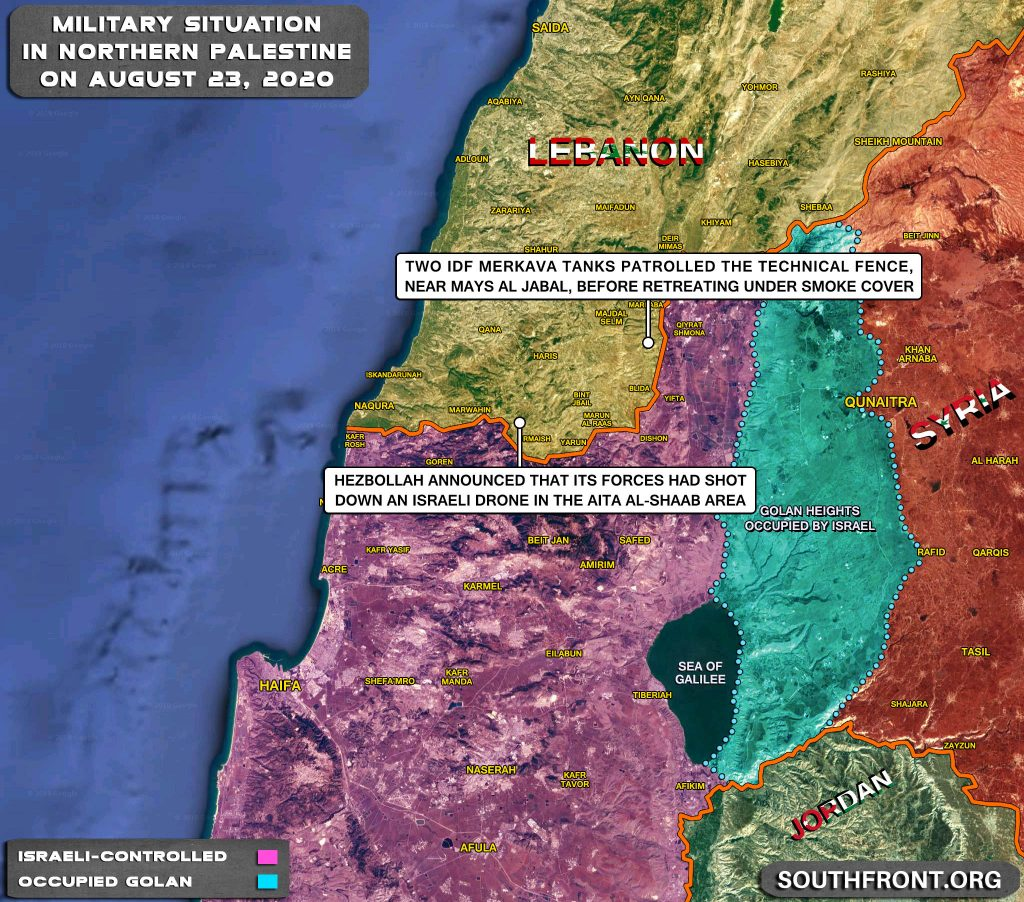 Military Situation In Palestine On August 23, 2020 (Map Update)