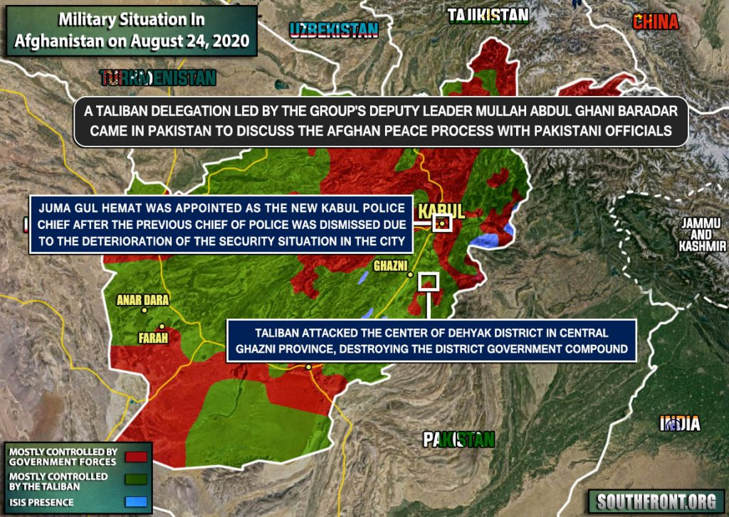 Military Situation In Afghanistan On August 24, 2020 (Map Update)