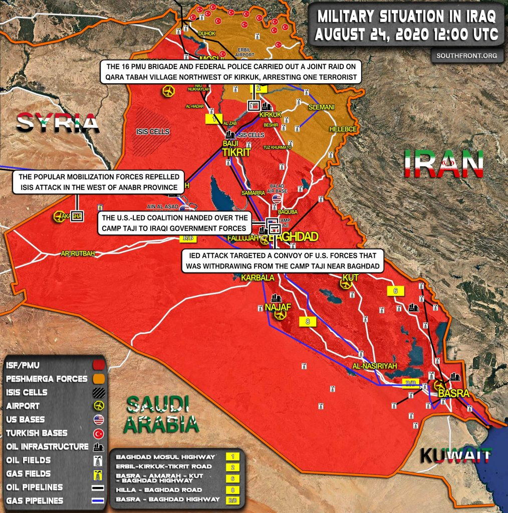 Military Situation In Iraq On August 24, 2020 (Map Update)