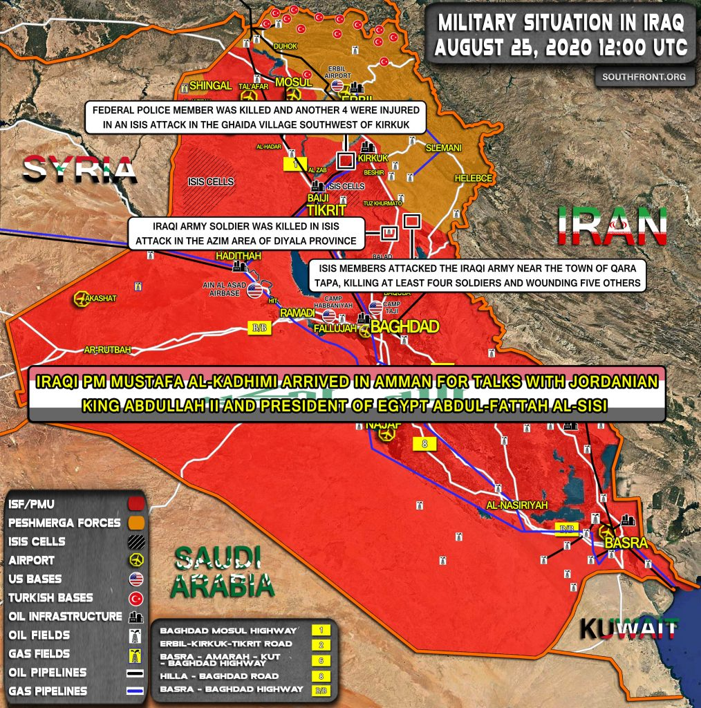 Military Situation In Iraq On August 25, 2020 (Map Update)