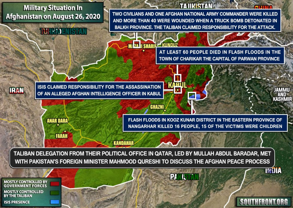 Military Situation In Afghanistan On August 26, 2020 (Map Update)