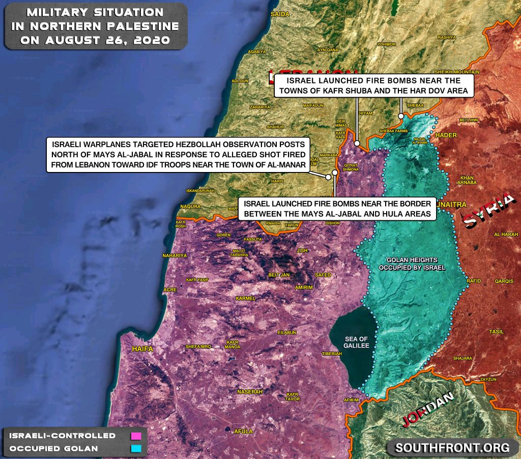Military Situation In Palestine On August 26, 2020 (Map Update)