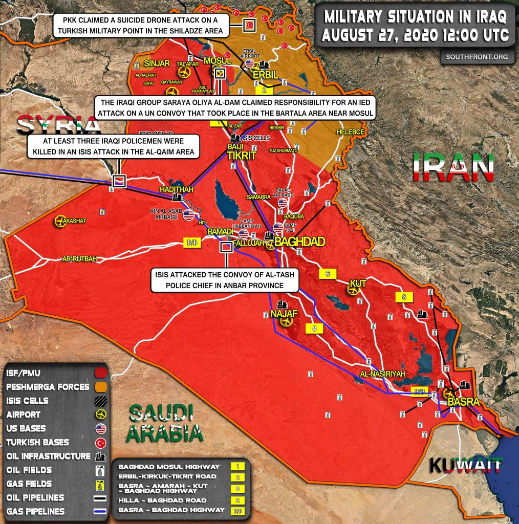 Military Situation In Iraq On August 27, 2020 (Map Update)