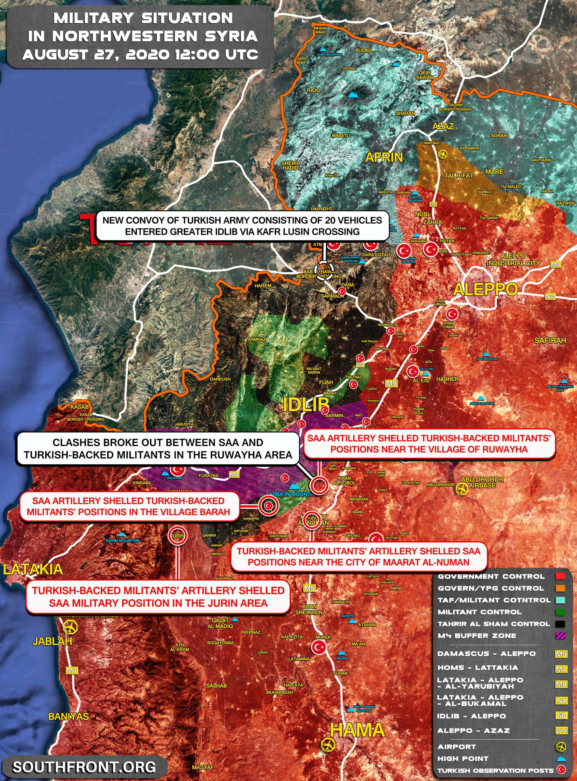 Military Situation In Northwestern Syria On August 27, 2020 (Map Update)