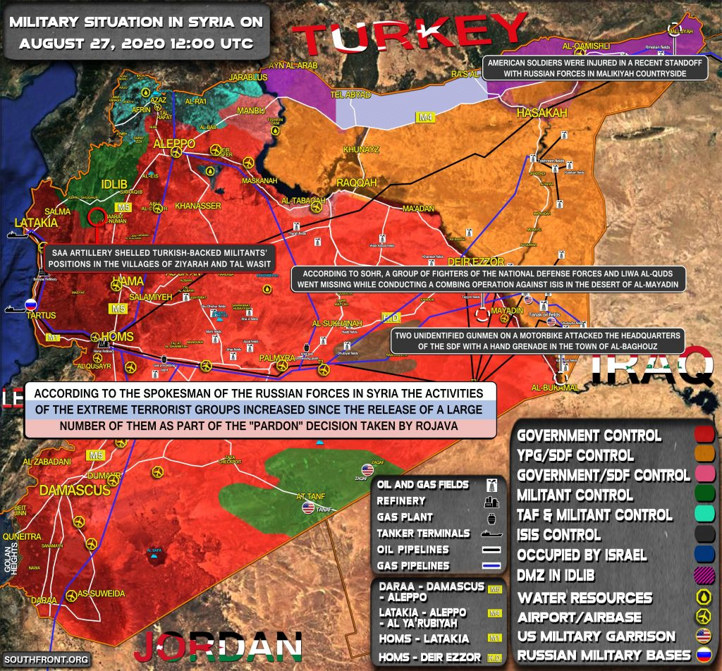 Military Situation In Syria On August 27, 2020 (Map Update)