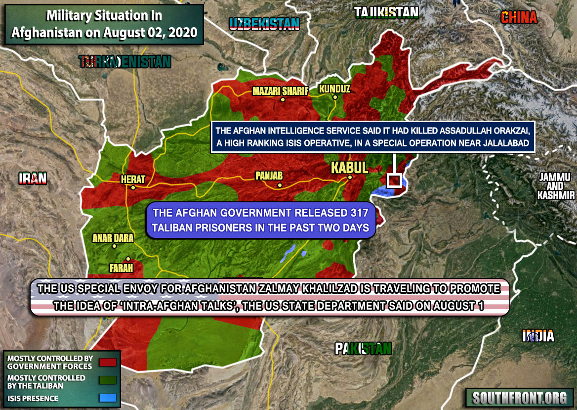 Military Situation In Afghanistan On August 2, 2020 (Map Update)