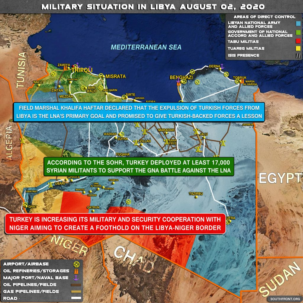 Military Situation In Libya On August 2, 2020 (Map Update)