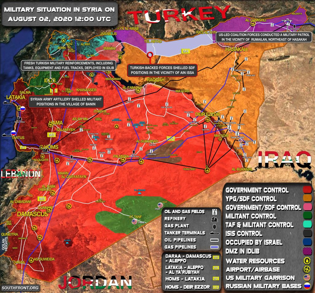 Military Situation In Syria On August 2, 2020 (Map Update)