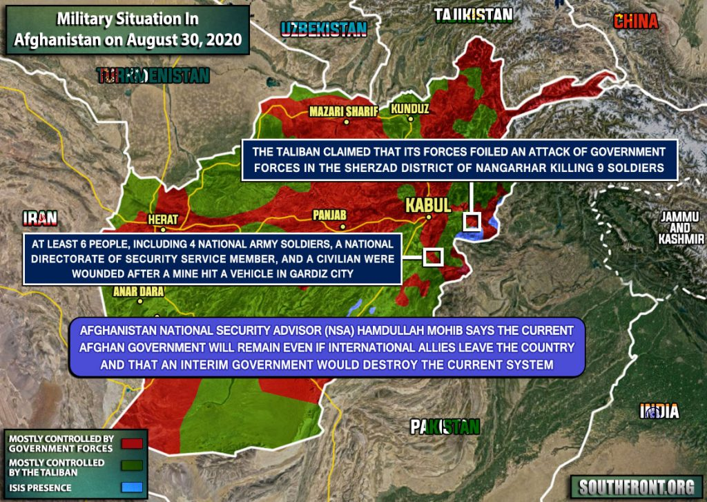 Military Situation In Afghanistan On August 30, 2020 (Map Update)