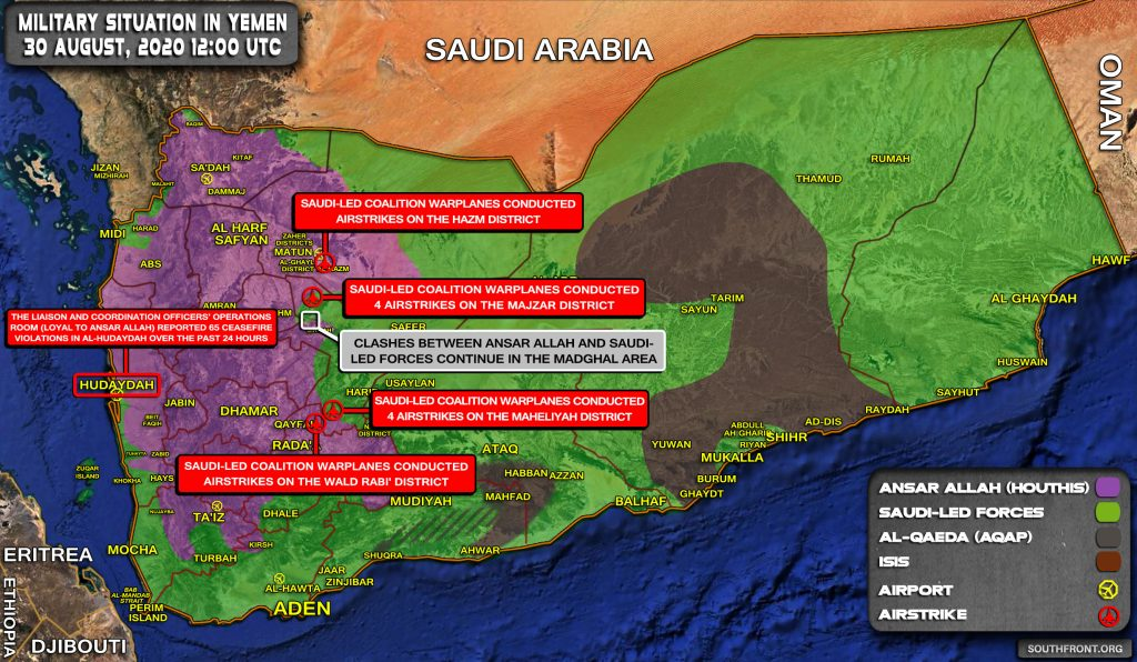 Military Situation In Yemen On August 30, 2020 (Map Update)