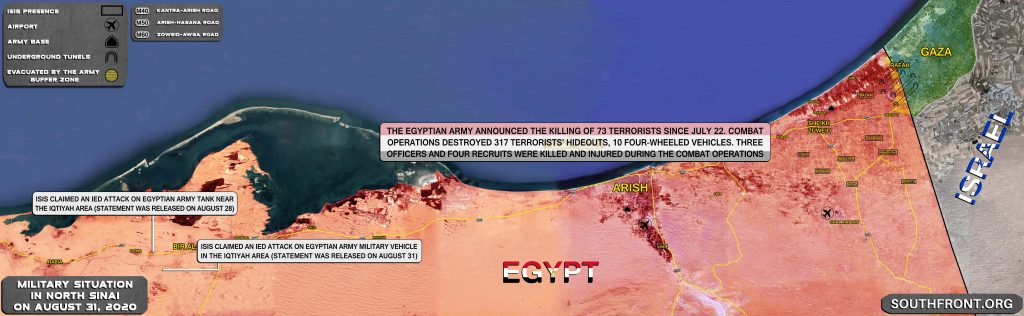 Egyptian Military Killed At Least 70 Militants In Norther Sinai Over 6 Weeks