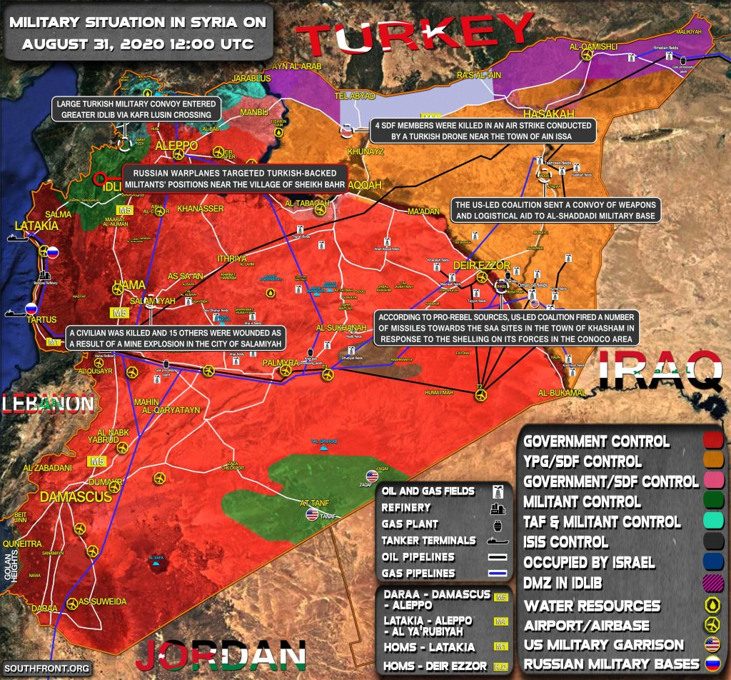 Military Situation In Syria On August 31, 2020 (Map Update)
