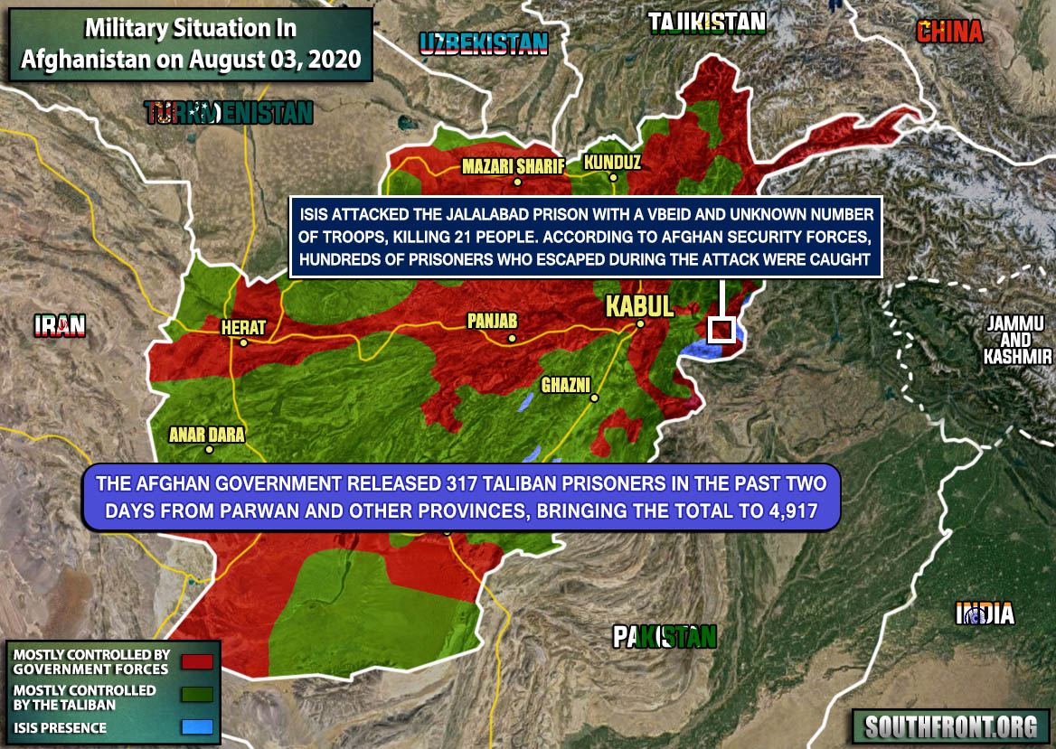 Military Situation In Afghanistan On August 3, 2020 (Map Update)