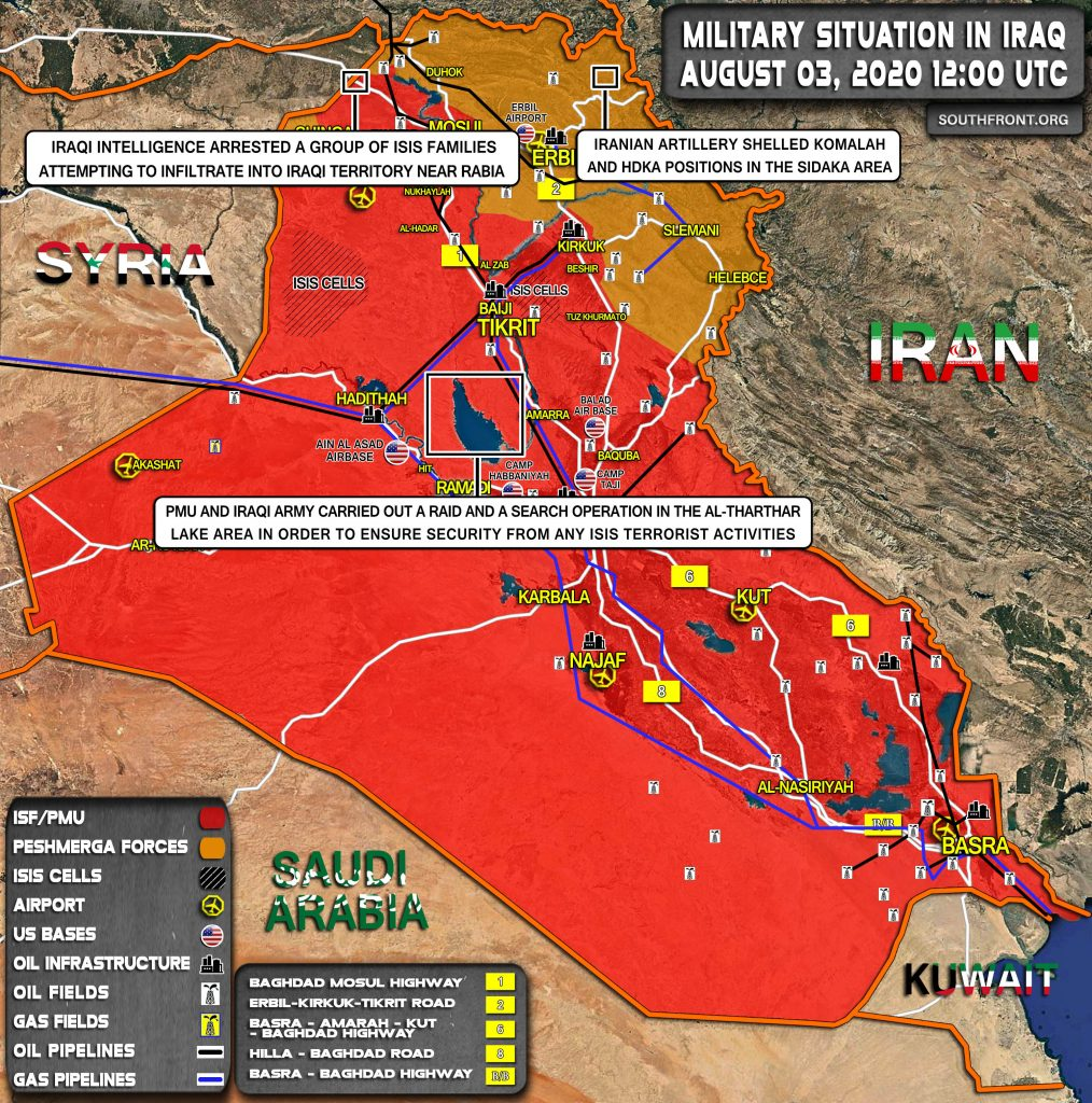 Military Situation In Iraq On August 3, 2020 (Map Update)