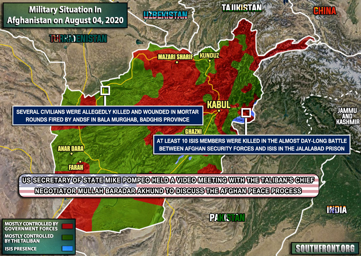 Military Situation In Afghanistan On August 4, 2020 (Map Update)