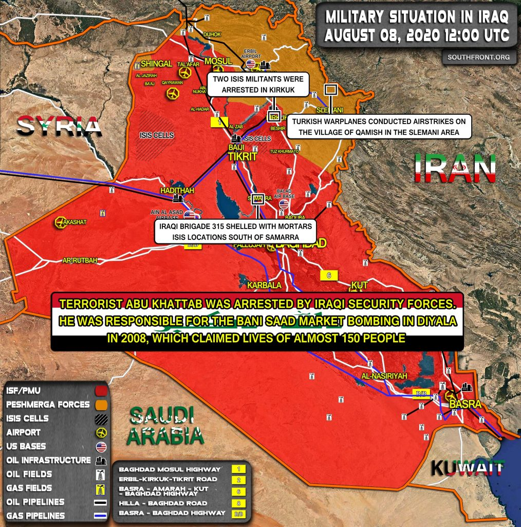 Military Situation In Iraq On August 8, 2020 (Map Update)