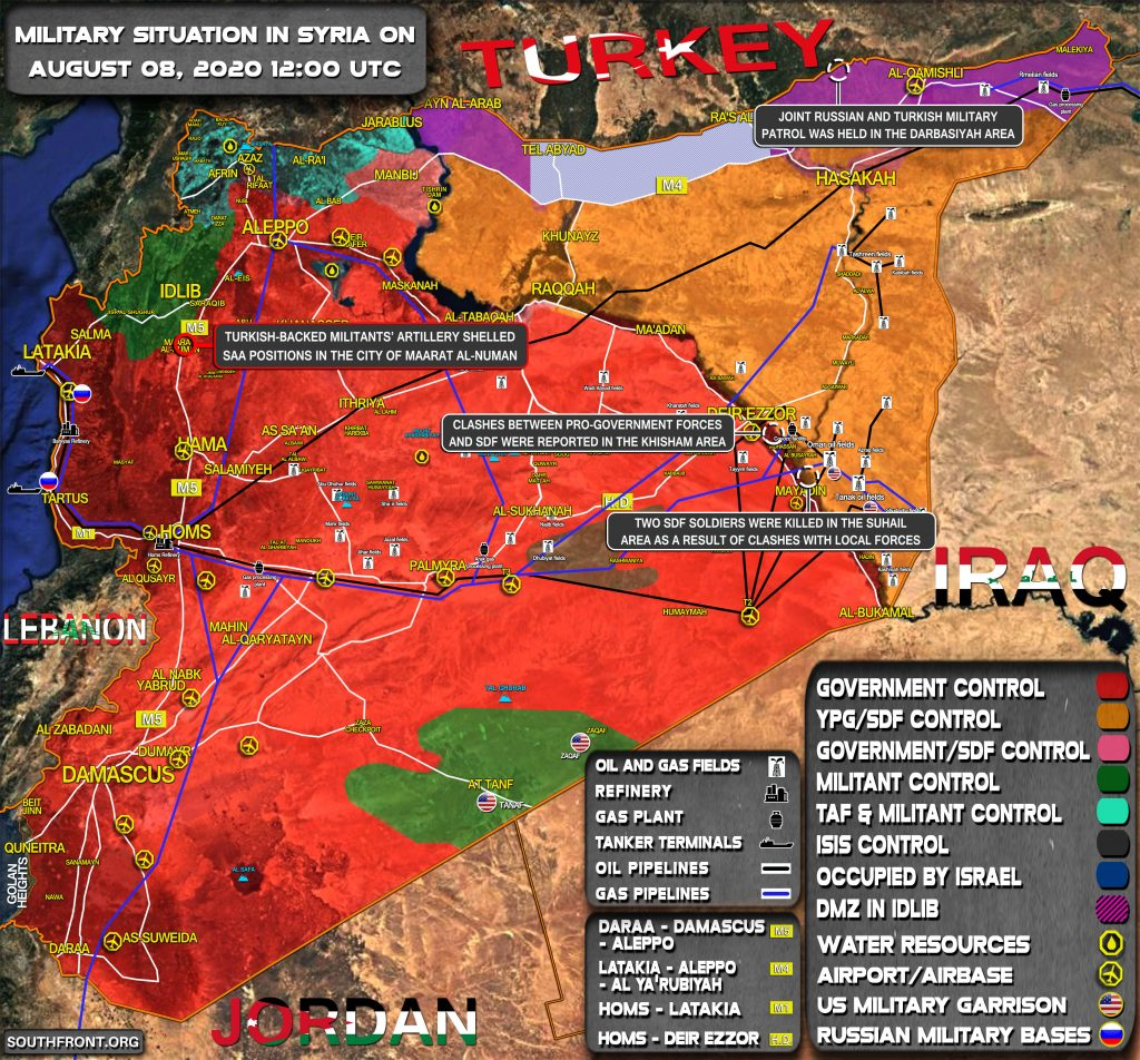 Military Situation In Syria On August 8, 2020 (Map Update)
