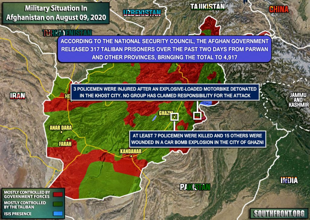 Military Situation In Afghanistan On August 9, 2020 (Map Update)
