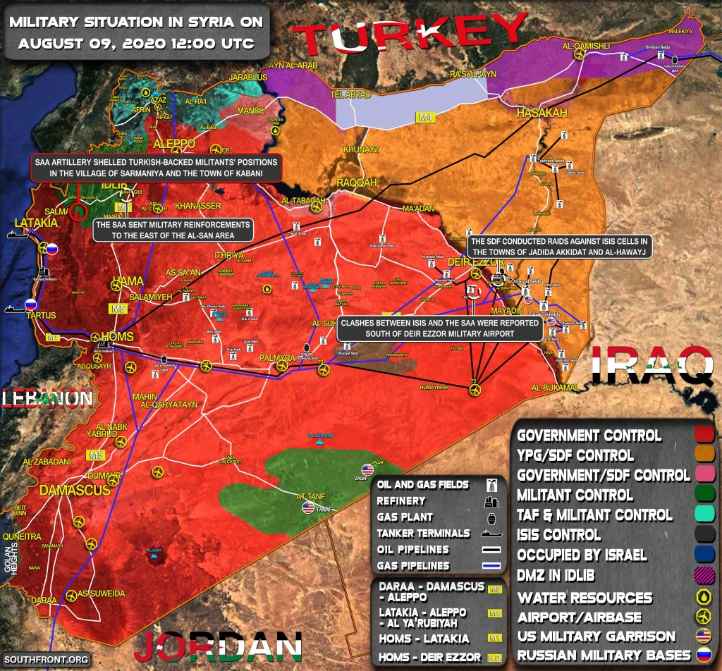 Military Situation In Syria On August 9, 2020 (Map Update)