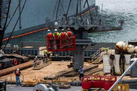 US Navy Begins Repair Work On USS BonHomme Richard After Fire: Photographs