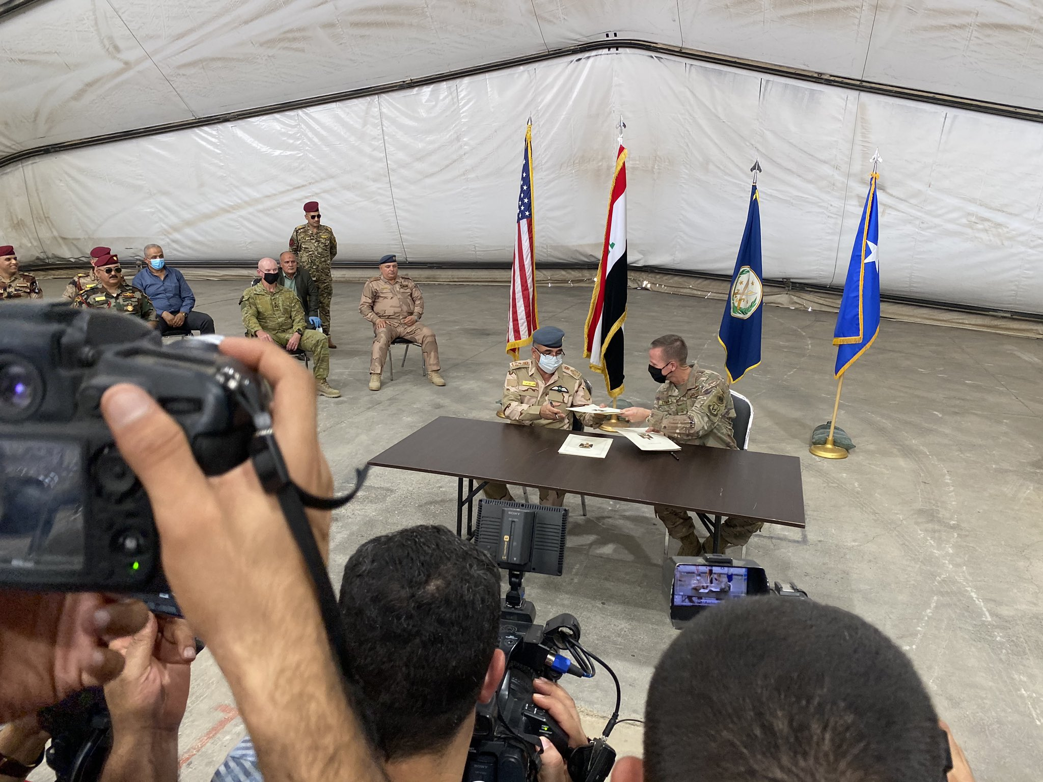 U.S.-led Coalition Withdrew Troops From Camp Taji Near Iraq's Baghdad (Photos)