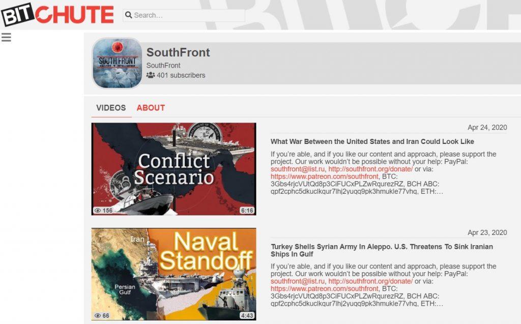 SouthFront Videos On BitChute