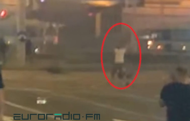 Video Shows Moment Of Death Of Protester In Minsk During August 10 Riots