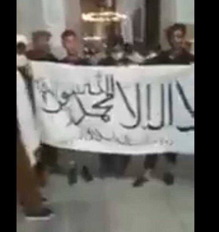 Taliban Flag Unfurled Inside Hagia Sophia Mosque