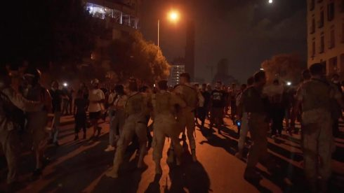 Protesters Set Fires, Clash With Police In Lebanon's Protests