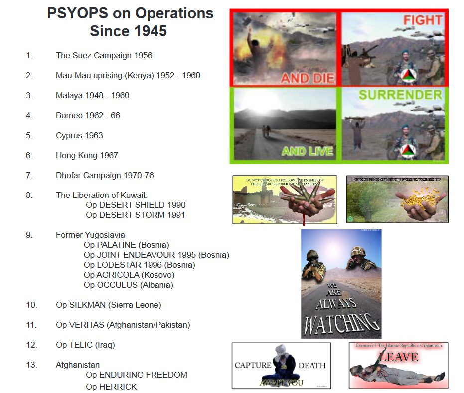 """""""Influence And Outreach"""": The UK's Evolving PsyOps Capability"""