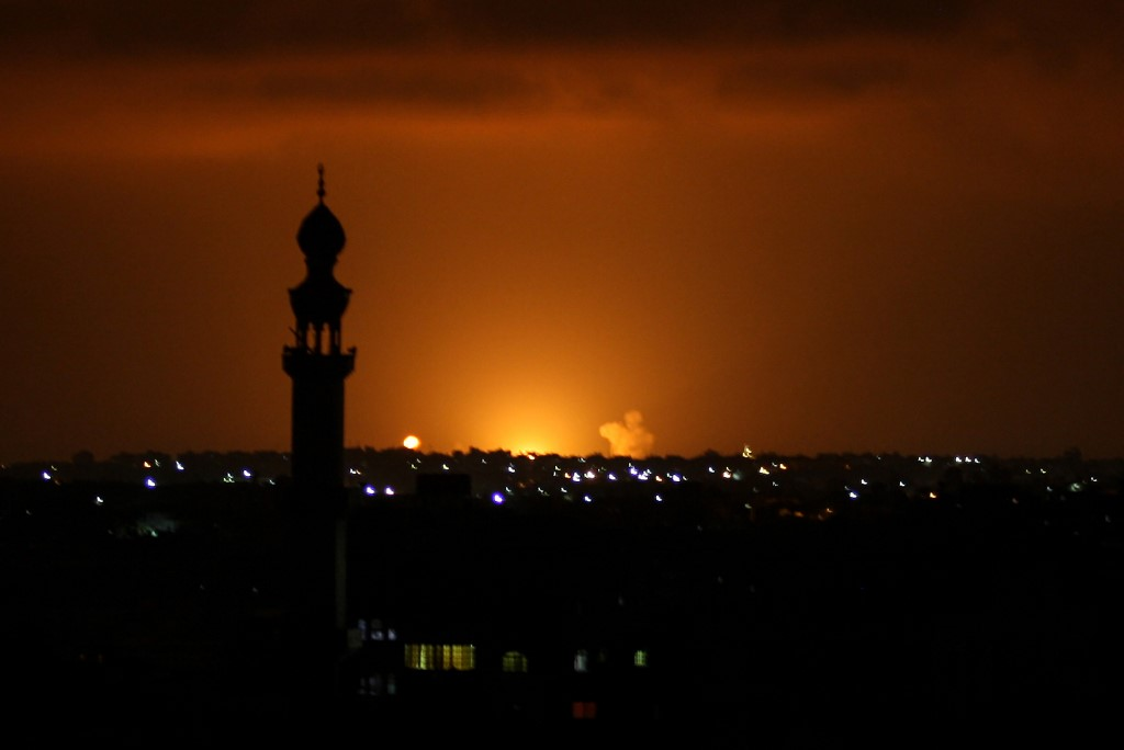 "IDF Strikes Hamas Targets In Gaza Following ""Historic"" Gulf Normalization Deal"