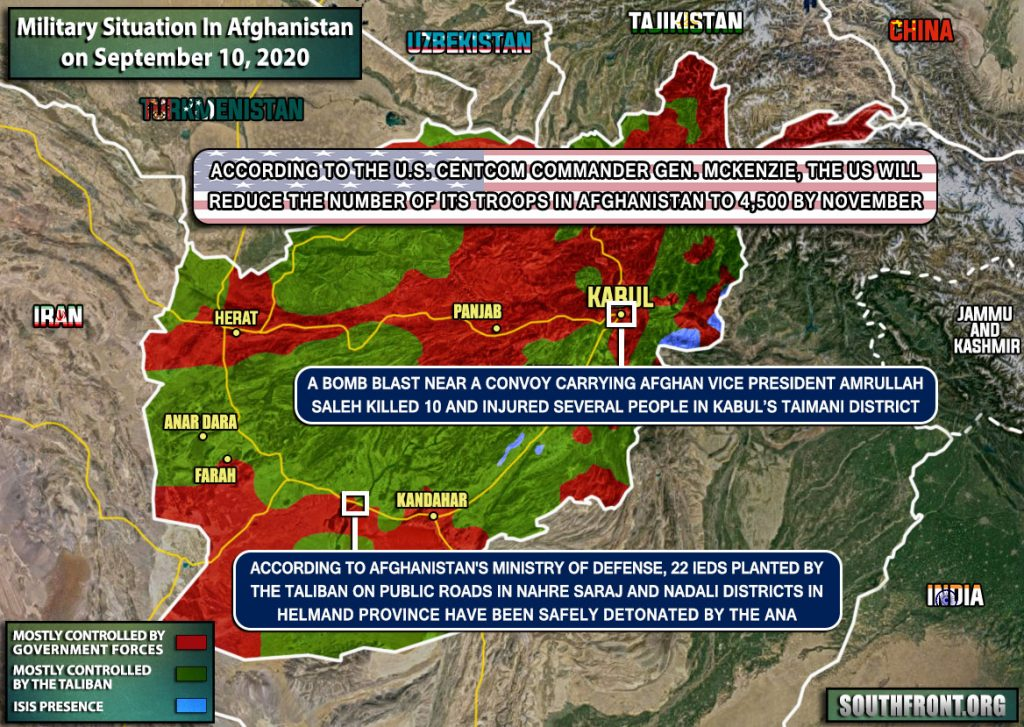Military Situation In Afghanistan On September 10, 2020 (Map Update)
