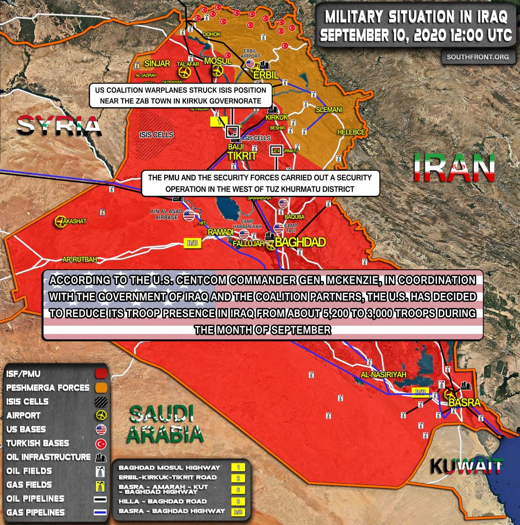 Military Situation In Iraq On September 10, 2020 (Map Update)
