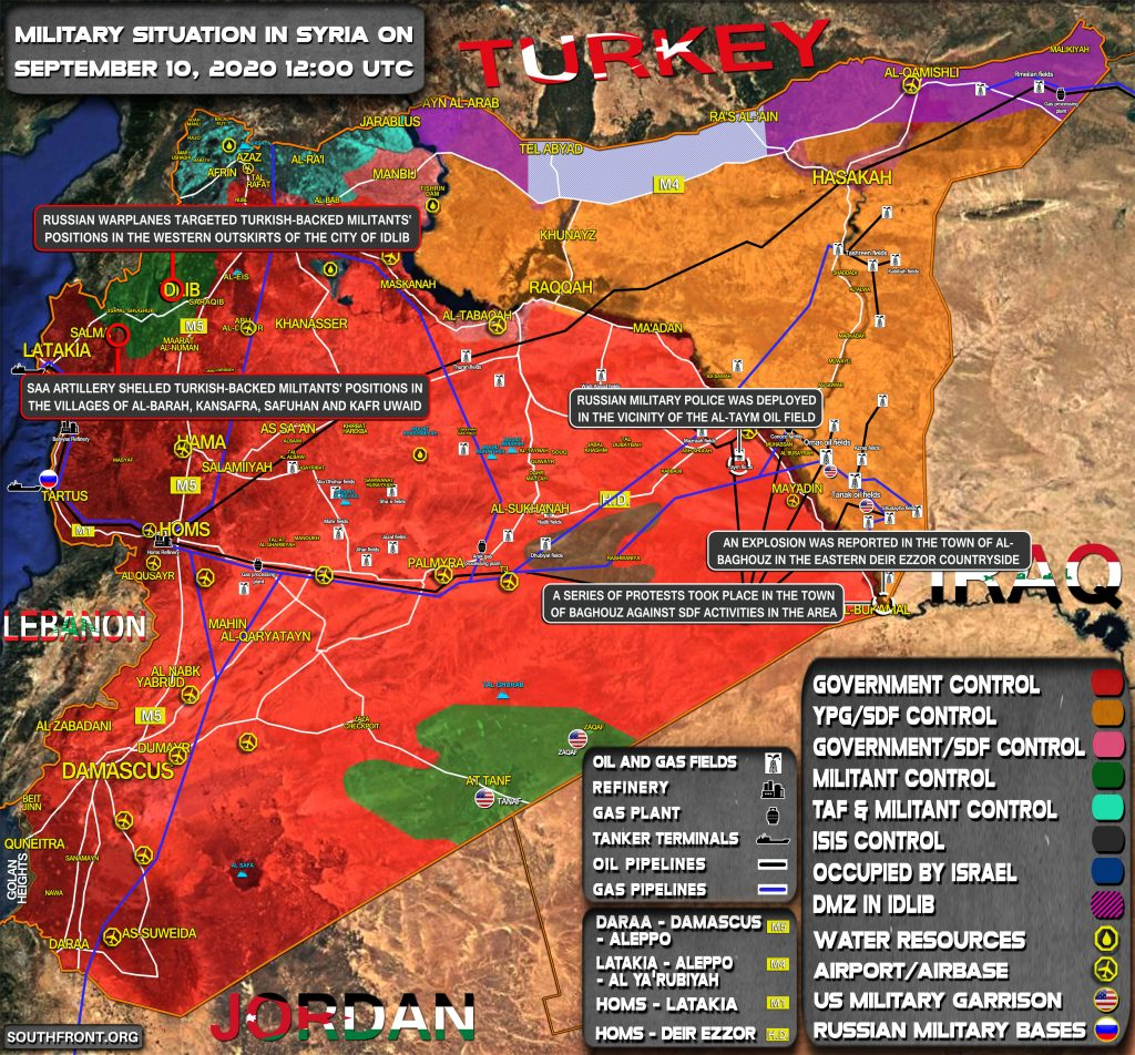 Military Situation In Syria On September 10, 2020 (Map Update)