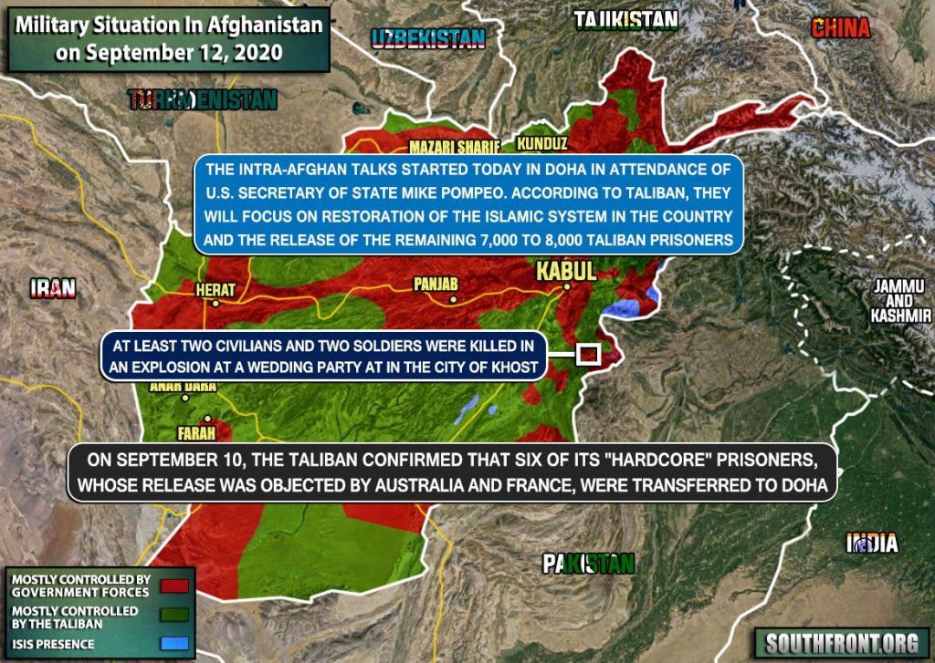 Military Situation In Afghanistan On September 12, 2020 (Map Update)