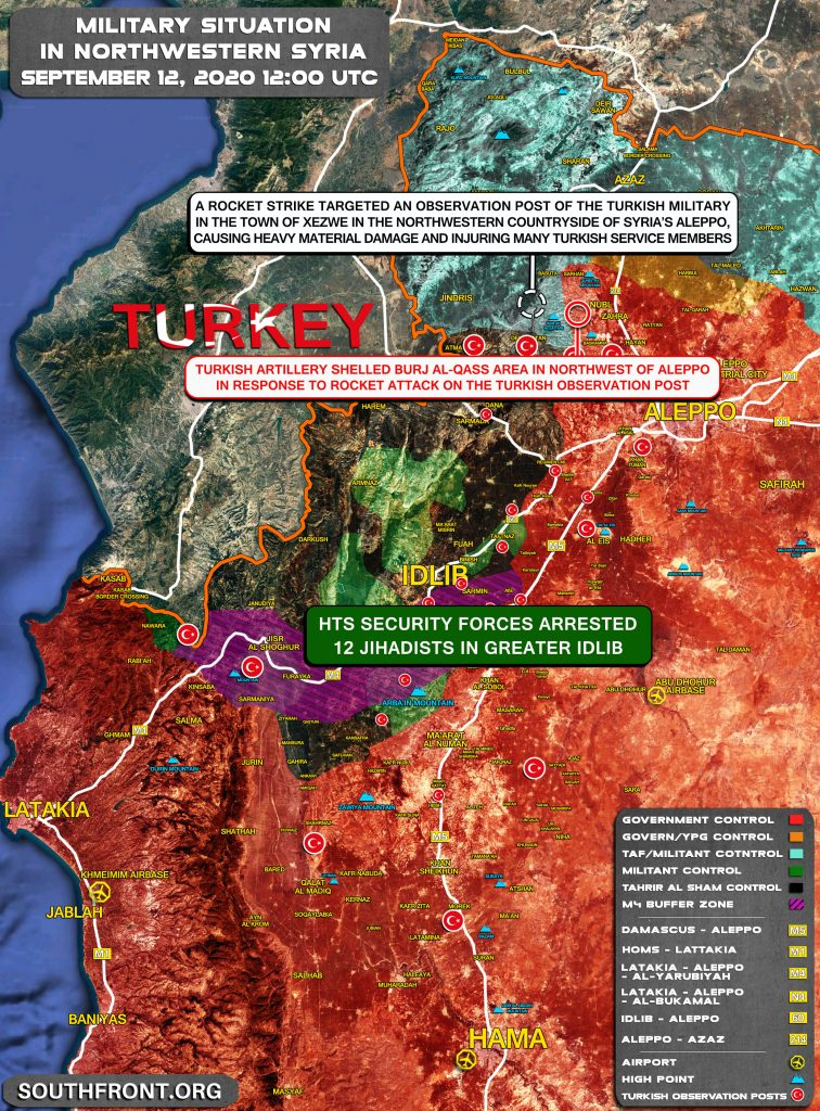 Military Situation In Syria's Greater Idlib On September 13, 2020 (Map Update)