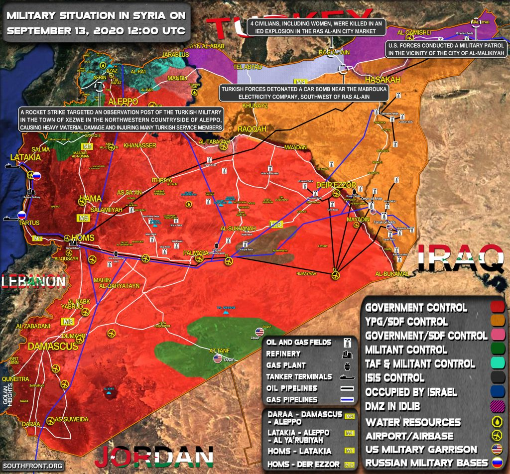 Military Situation In Syria On September 13, 2020 (Map Update)