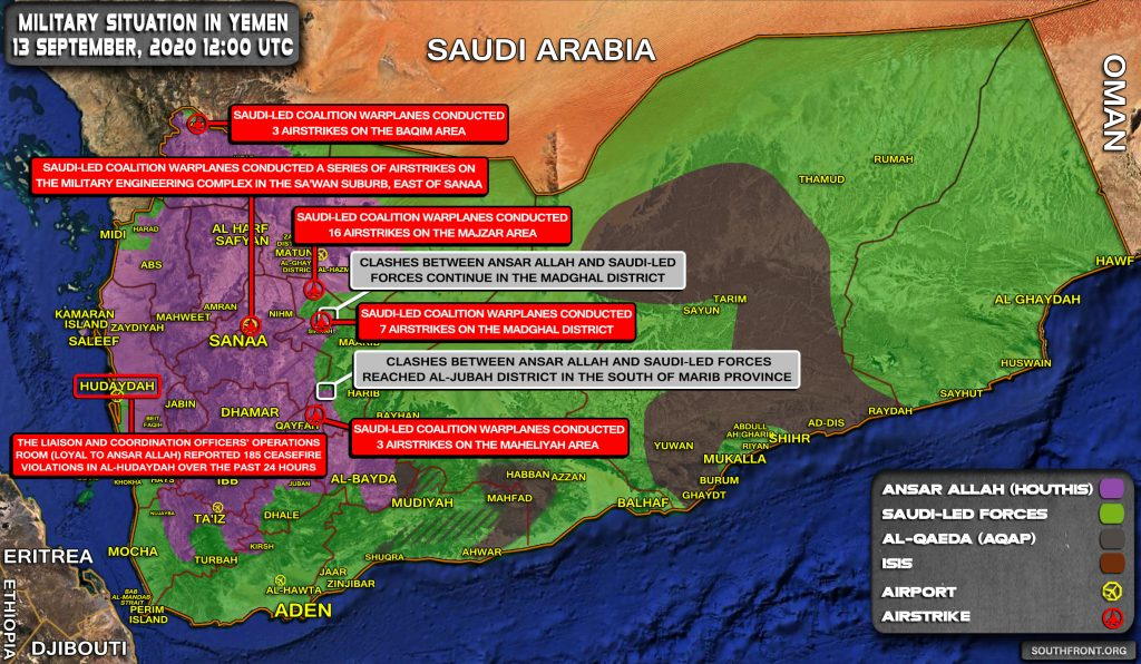 Military Situation In Yemen On September 13, 2020 (Map Update)