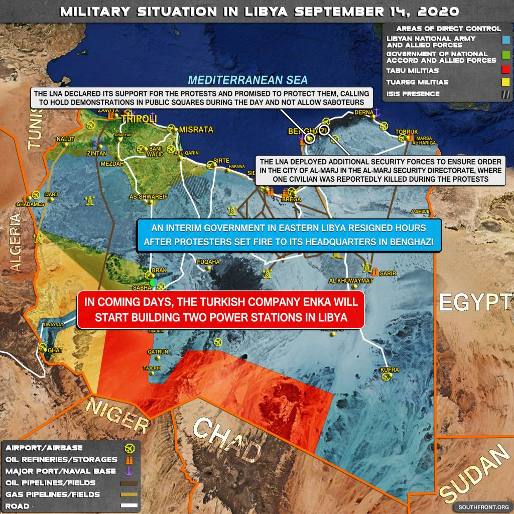Military Situation In Libya On September 14, 2020 (Map Update)