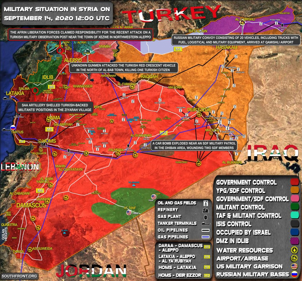 Military Situation In Syria On September 14, 2020 (Map Update)