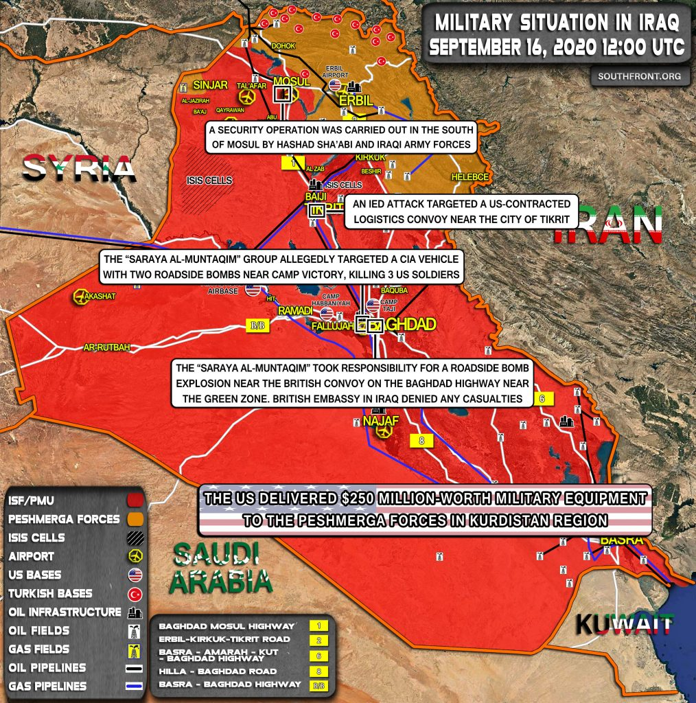 Military Situation In Iraq On September 16, 2020 (Map Update)
